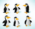 Six Penguins Royalty Free Stock Images