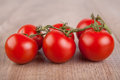 Six red tomatoes picture of Royalty Free Stock Photos