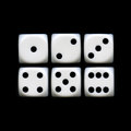 Six Sides of A Dice Royalty Free Stock Photo