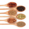 Six Spice Selection Stock Images