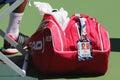 Six times Grand Slam champion Novak Djokovic customized Head tennis bag at US Open 2014