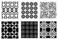 Six Vector Patterns Royalty Free Stock Photography