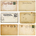 Six Vintage Postcards Stock Photography