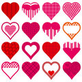 Sixteen red heart,  Royalty Free Stock Photography