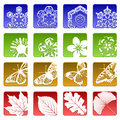 Sixteen season icons Royalty Free Stock Images