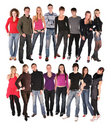 Sixteen young people group Royalty Free Stock Photo