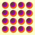 Sixties circles Vector