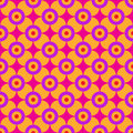 Sixties geometric pattern minimalist floral geometry from the Royalty Free Stock Photography