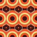 Sixties orange retro Stock Photography