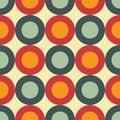 Sixties seamless pattern