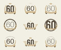 Sixty years anniversary celebration logotype th anniversary logo collection Royalty Free Stock Image