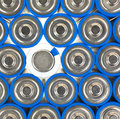 Size AA batteries with positive and one negative Royalty Free Stock Images