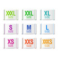 Size clothing labels set of Royalty Free Stock Images