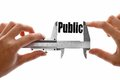 The size of our public close up shot a caliper measuring word Royalty Free Stock Photos
