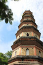 Sizhou tower located huizhou west lake mountain most ancient buildings lake。 Stock Images