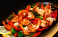 Sizzling prawns Stock Photography