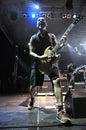 Ska pska punk rock band von spanien führt live auf dem stadium durch Lizenzfreie Stockbilder