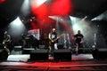 Ska pska punk rock band von spanien führt live auf dem stadium durch Stockbild