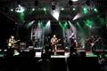Ska pska punk rock band von spanien führt live auf dem stadium durch Lizenzfreie Stockfotografie