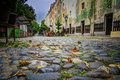Skadarska street belgrade beautiful autumn picture was taken on old buildings are paintеd this is called s Royalty Free Stock Photos