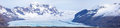 Skaftafell Glacier Iceland Panorama Royalty Free Stock Photo