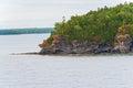 Skalista linia brzegowa na Gruzińskiej zatoce, Ontario Kanada Zdjęcie Stock