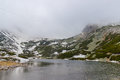 Skalnate pleso mountain lake. Slovakia. Royalty Free Stock Photo