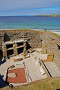 Skara Brae in Orkney Royalty Free Stock Photo