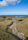 Skara brae orkney scotland neolithic settlement thought to be around years old and is a designated world heritage site Royalty Free Stock Images