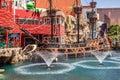 Skarb wyspy kasyna i hotelu pirata statek Zdjęcie Royalty Free