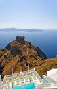 Skaros on santorini Royalty Free Stock Image