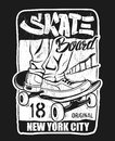 Skate board typography, t-shirt graphics, vectors. Royalty Free Stock Photo