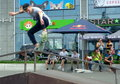 Skate championship kiev organized by red bull this competition was held may in kiev ukraine on a large parking lot street paul Stock Image