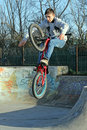 Skate park biker youth Royalty Free Stock Images