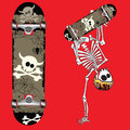 Skate skeleton invert Stock Photos
