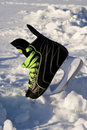 Skate in snowdrift. Stock Photos