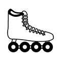 Skate wheel sport equipment icon