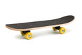 Skateboard black isolated on a white background Royalty Free Stock Images