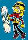 Skateboard boy Royalty Free Stock Photo