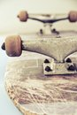 Skateboard close up image of Stock Photos