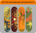 Skateboard design pack Stock Images