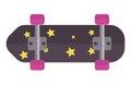 Skateboard icon extreme sport sign vector illustration.