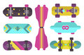 Skateboard icon extreme sport sign vector illustration.