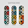 Skateboard set energy of drawings on a Royalty Free Stock Image