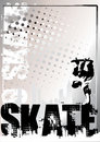 Skateboard silver poster background 1 Royalty Free Stock Photo