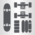 Skateboard, skateboard trucks Royalty Free Stock Photo