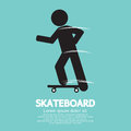 Skateboard sport sign vector illustration Stock Photography