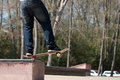 Skateboarder on a Grind Rail Royalty Free Stock Photo