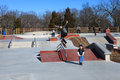 Skateboarder at Lake Fairfax Skatepark Reston Virginia Royalty Free Stock Photo
