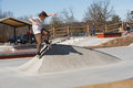 Skateboarder at Lake Fairfax Skatepark Reston Virginia Stock Photo